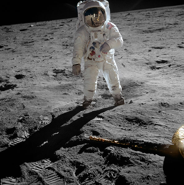 Buzz Aldrin Wearing An Omega Speedmaster Professional On The Moon