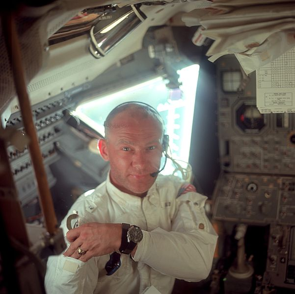 Buzz Aldrin Wearing An Omega Speedmaster Professional